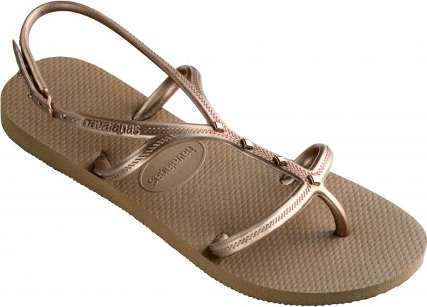 0080b1b7b1b8 Havaianas Rose Gold Flat Sandal For Women