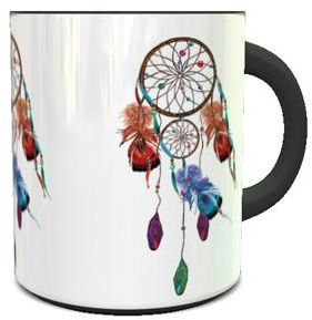 Color Changing Heat Sensitive Coffee Mug With Dream Catcher 1 Design
