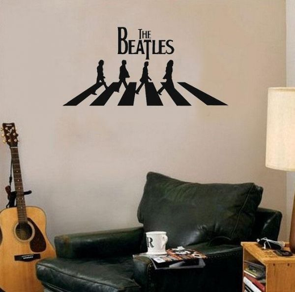 Beatles Music Wall Decals For Living Room Home Decor Waterproof