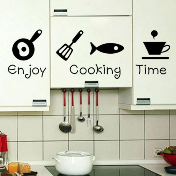 wall decals for kitchen, home decor, waterproof wall stickers | ksa