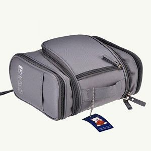 21a30099a874 Portable Travel Kit Organizer Toiletry Bag For Women Makeup Or Men Shaving  Kit With Hanging Hook