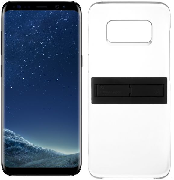 Samsung Galaxy S8 Dual Sim - 64GB, 4G LTE, Midnight Black with KickTOK Cover, Black
