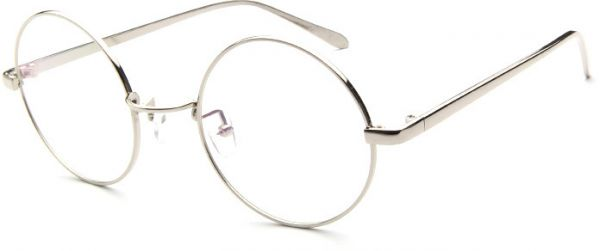 a209aba575 Round Glass Frame for Women - Silver