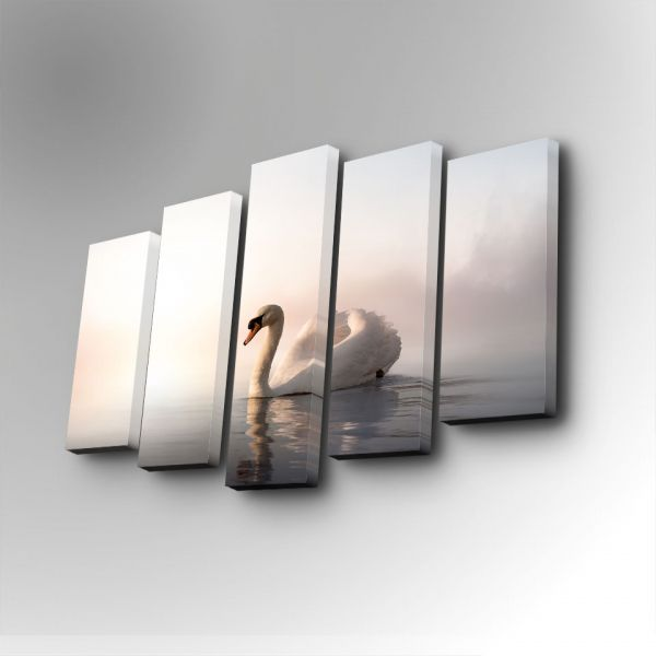 Decorative 5PUC-024 Canvas Painting 5 Piece Set - Mixed Media