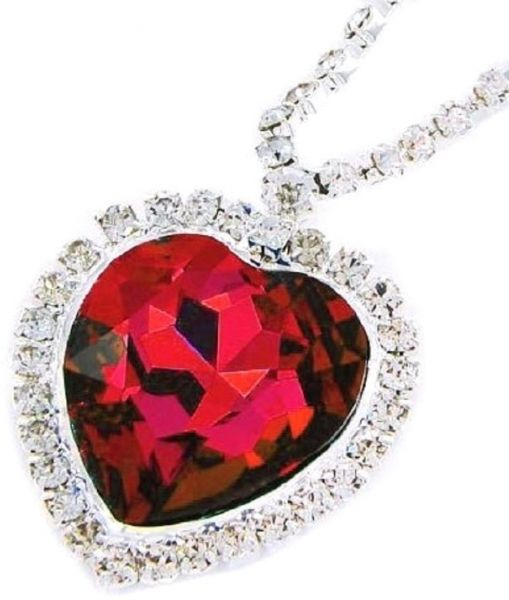 Titanic red crystal heart with rhinestone pendant necklace price titanic red crystal heart with rhinestone pendant necklace aloadofball Image collections