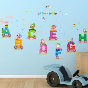 DIY Removable Wall Stickers For ChildrenRoom Home Decor   Alphabet Train