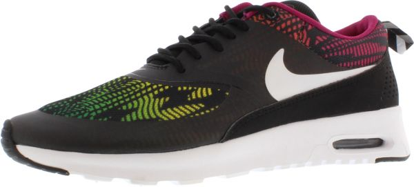 separation shoes a1aff bb473 Nike Air Max Thea Print Running Shoes for Women, Black White Bright  Magnet red Volt. by Nike, Athletic Shoes - Be the first to rate this product