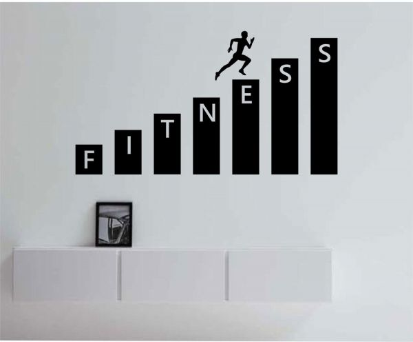 gym wall decals for living room, home decor, waterproof wall