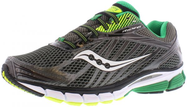 97c28a82 Saucony Ride 6 Wide Running Shoes for Men, Grey/White/Green