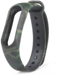 Camouflage Pattern Watch Strap for Xiaomi Mi band 2 - GREEN