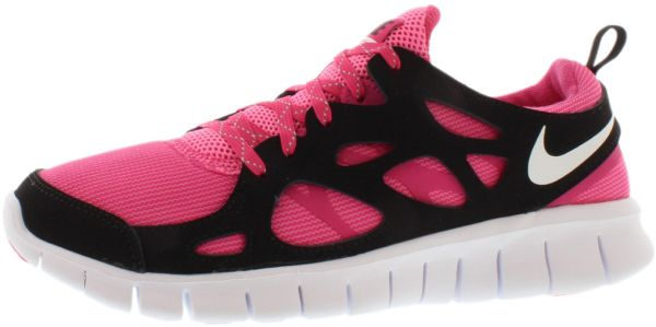 Nike Free 2.0 LE Gradeschool Running Shoes for Girls, Multi Color