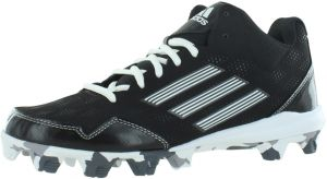 303f51c50e74 adidas Wheelhouse 2 Mid Bsbl Baseball Shoes for Men, Black/White