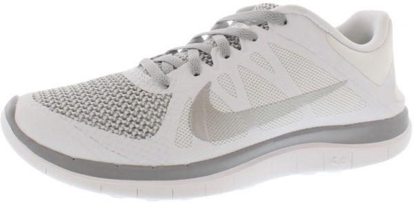 Nike Free 4.0 V4 Running Shoes for Women, WhiteMetallic SilverWolf Grey
