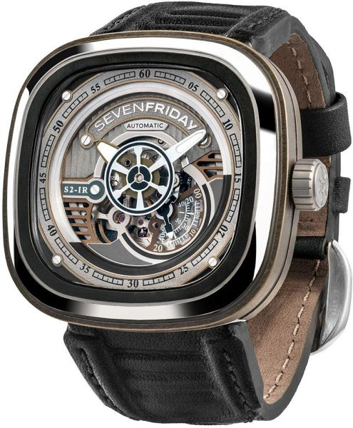 Sevenfriday mens black dial rubber band automatic watch s2 01 souq uae for Sevenfriday watches