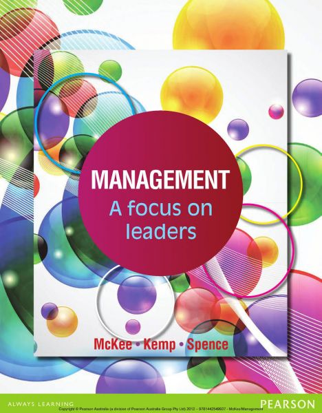 Management A Focus On Leaders by McKee - Paperback