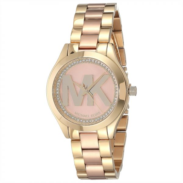 132f95bd485a Michael Kors Women s Rose Gold Dial Stainless Steel Band Watch ...