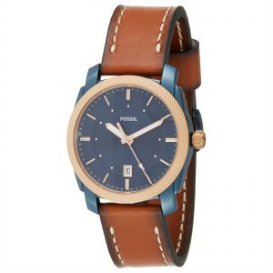 23f6a91e4 fossil grant men s blue dial leather band chronograph watch fs5061 ...