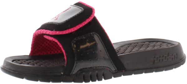 296048e56241 Jordan Black Vivid Pink Slides Slipper For Girls