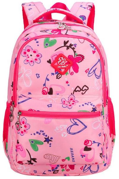 ZM Baby Girl Double Shoulders School Bag Ultra-Light Lovely Backpack ... ebcc03b280651