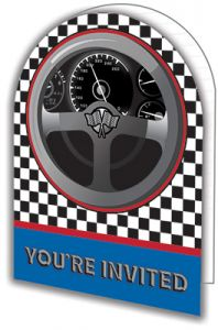 Creative Converting Racing Happy Birthday Invitation