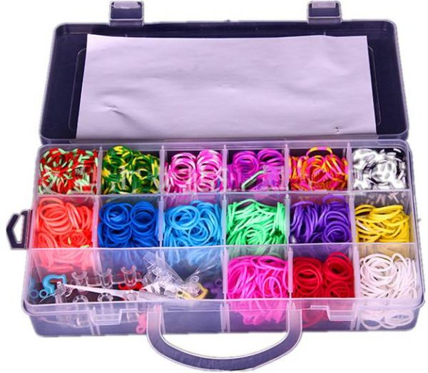 15 Differnt Colors Crazy Loom Bands Making Kit With Charms Souq Uae
