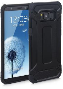 Samsung Galaxy J7 Prime Case Hybrid Armor Shockproof and &Dropproof Rugged Defender Case Cover (Black)