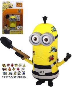 Despicable Me 3 Deluxe Action Figure Jail Time Tattoo Tim 6 Inches