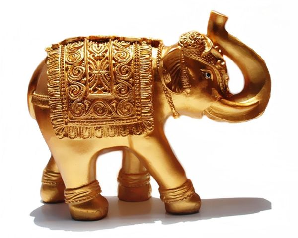 Home Decorative Resin 76 Elephant Statue 76 Inch Gold Color