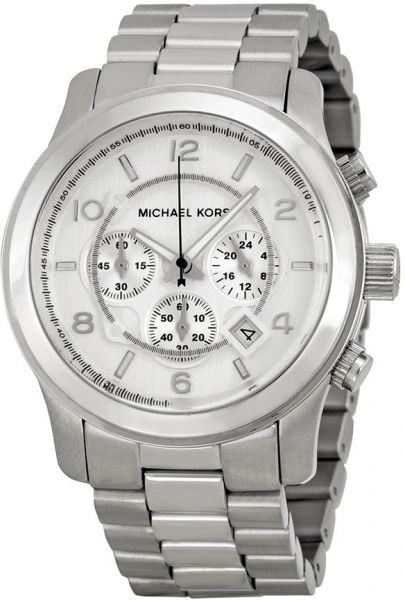 Michael Kors Runway Men s Silver Dial Stainless Steel Band Watch ... cebfd25f96