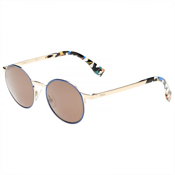 b09573f32e556 Fendi Round Women s Sunglasses - FF 0090 S-D43X1 - 49-20-140 mm