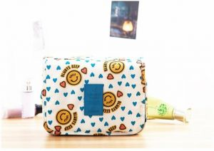 61b6d66b91c5 Portable Waterproof Cosmetic Makeup Toiletry Travel Hanging Organizer  Storage Bag Pouch - Smiley Yellow