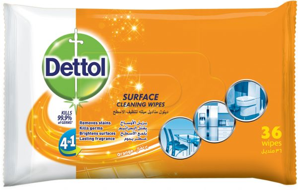 dettol surface cleaning wipes orange 35 wipes souq uae