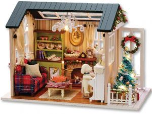65702d9e661f Diy Handmade miniature Furniture Doll House 3D Wooden Doll house Toys for  Christmas and birthday gift