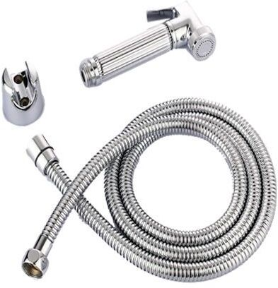 Toilet Bidet Spray Hand Held With Holder And Hose Stainless Steel