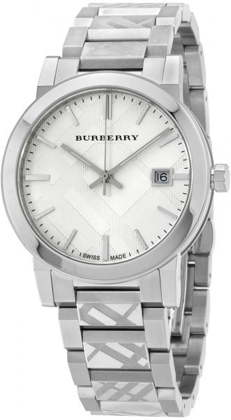 Burberry Unisex Silver Dial Stainless Steel Band Watch - BU9037