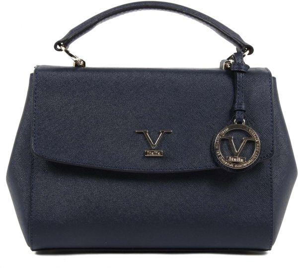 de034749f Versace Italia Synthetic Leather Bag for Women - Tote, Navy Blue, 9228-29969