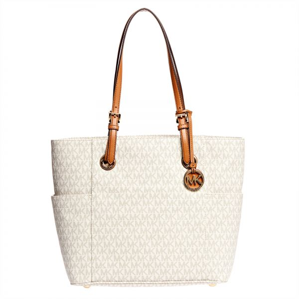288c02efb2ec Michael Kors Jet Set Monogram Tote Bag for Women - Vanilla | KSA | Souq