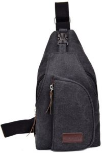 9237ca12018a Korean casual men s small chest bag sports canvas bag multi-function  outdoor oblique shoulder Backpack BB037-grey