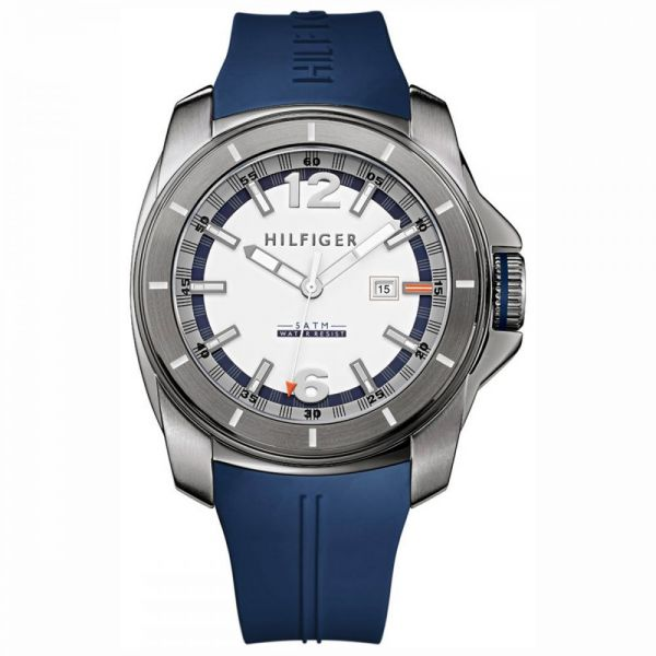 9a957e76d Tommy Hilfiger Windsurf Men's Blue Dial Silicone Band Watch - 1791113