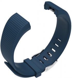 Navy Blue Replacement Band for Fitbit Charge 2 HR Soft Silicone Wristband Large