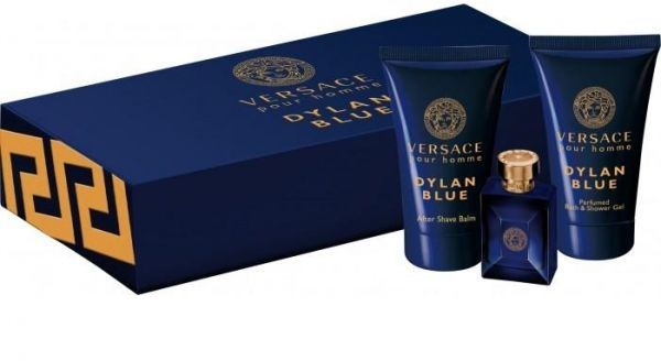 905bc8a1000 Versace Pour Homme Dylan Blue EDT - 3 Pieces Mini Set for Men, 5 ml | KSA |  Souq
