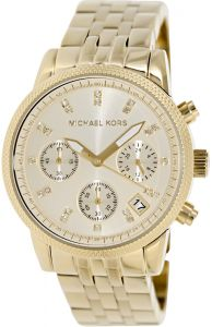 12c1e7d21615 Michael Kors Ritz Women s White Dial Stainless Steel Band Watch - MK5676