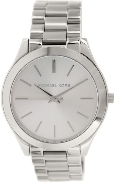 43e7739fd8d8 Michael Kors Runway Women s White Dial Stainless Steel Band Watch ...