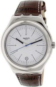 bb42798fb Swatch Irony Men's White Dial Brown Band Watch - YWS401