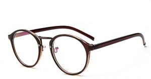 69c7cc712023 Panto Glass Frame for Unisex - Brown