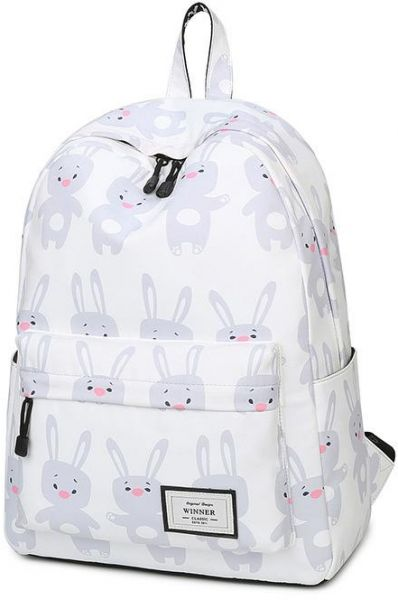 Cartoon Animal Printing Backpack Canvas Rabbit backpack Book bag School  Bags for Teenage Girls 457fe0dcaed42