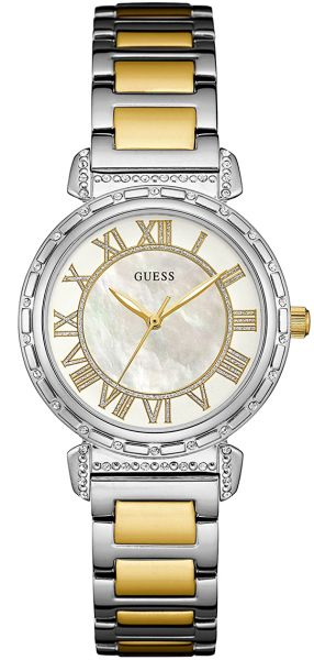 Guess South Hampton Womens Silver Dial Stainless Steel Band Watch - W0831L3