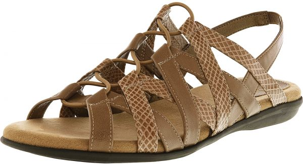 0b9e490e504 Lifestride Brown Gladiator Sandal For Women