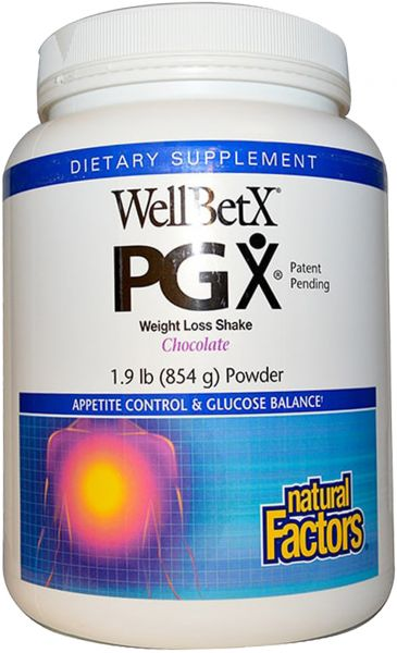 Natural Factors Wellbetx Pgx Weight Loss Shake Chocolate Powder 1 9