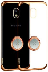 Samsung Galaxy J7 Pro Xundo Jazz Ring Series Case Cover Rose Gold And Clear